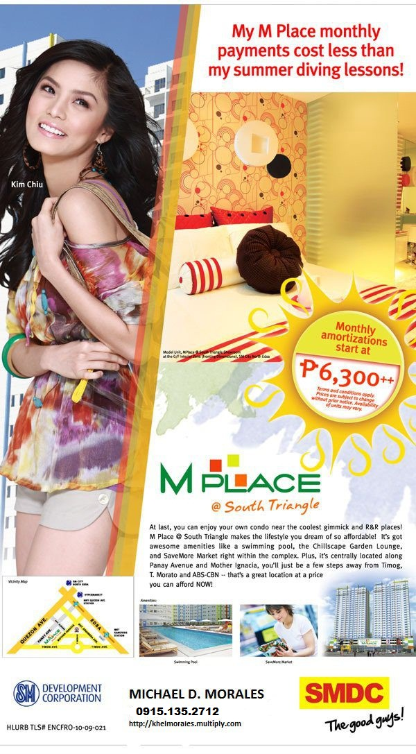 Being at the heart of the South Triangle area gives M Place residents the advantage of easy access to the most sought after dining places, entertainment centers and bars in Timog, as well as to a host of the best massage parlors and beauty salons in the M