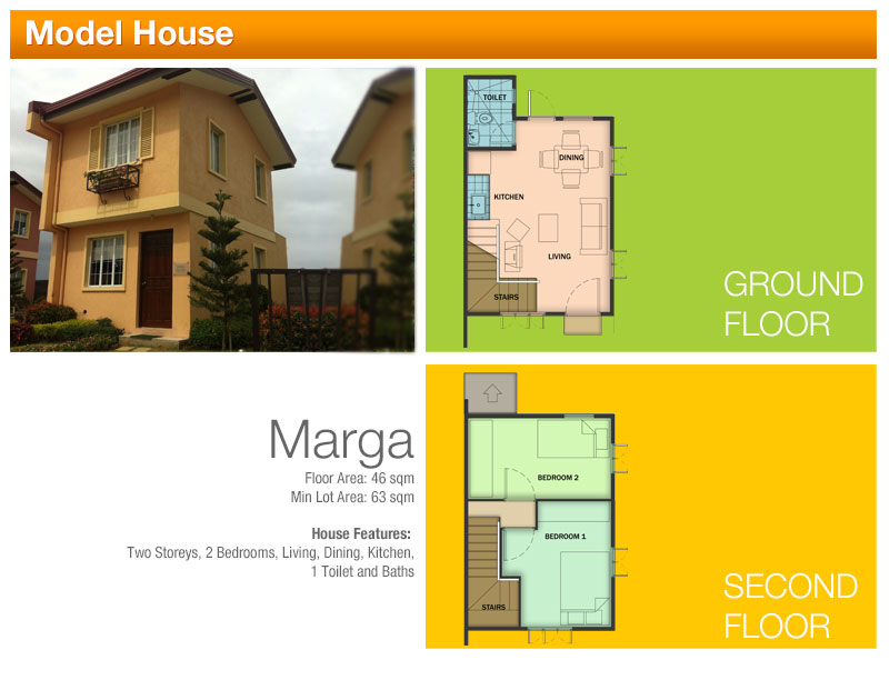 MARGA - 2 bedroom, 1 toilet and bath,  only 1,490,199