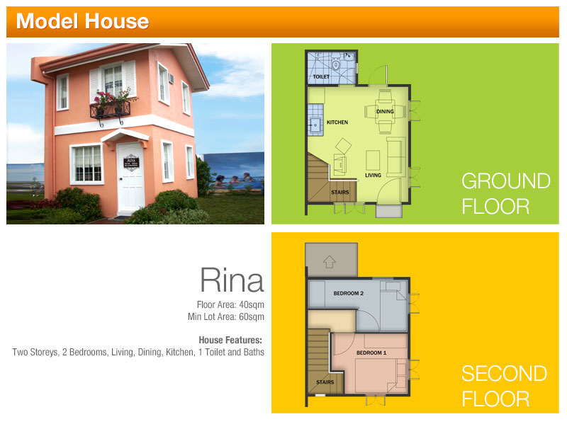 RINA  - 2 bedroom, 1 toilet and bath  1,379,909