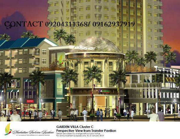 GARDEN VILLAS in MANHATTAN GARDEN CITY: ARANETA CENTER QUEZON CITY