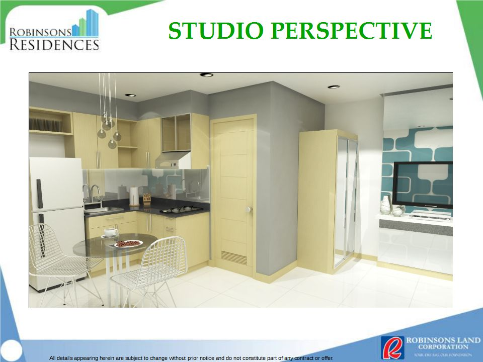 Azalea Place Studio Unit Perspective