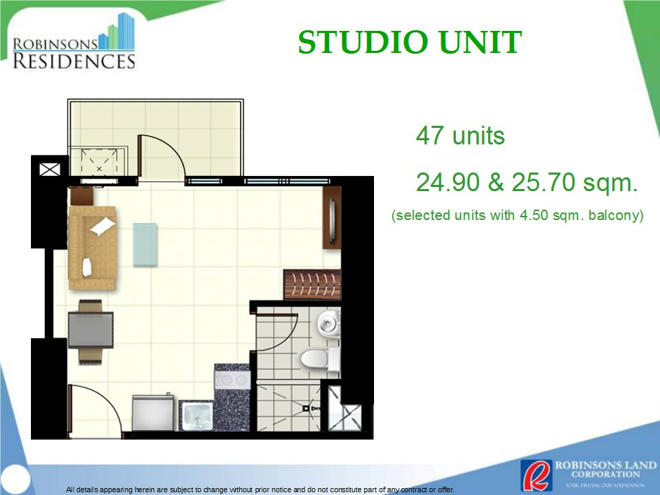 Azalea Place Studio Unit Floor Plan