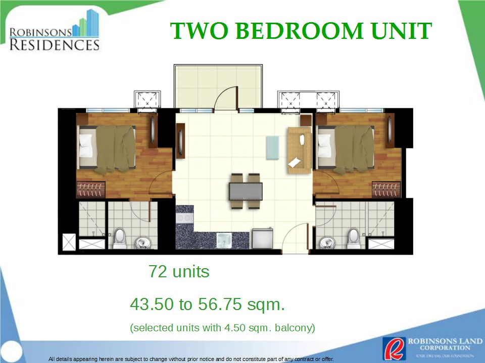 Azalea Place 2BR Floor Plan