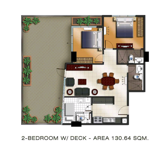 The Padgett Place 2br floor plan