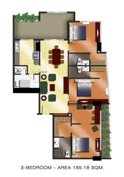 The Padgett Place 3br floor plan