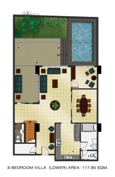 The Padgett Place 3br villa floor plan