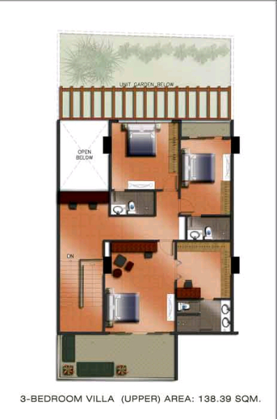 The Padgett Place 3br villa floor plan-2