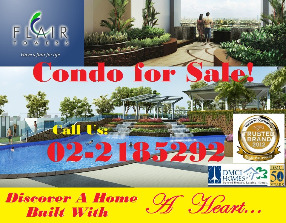 Condo in Mandaluyong/Flair Towers by DMCI Homes/Condo for Sale/No Spot Down Call Us+632-218.5292