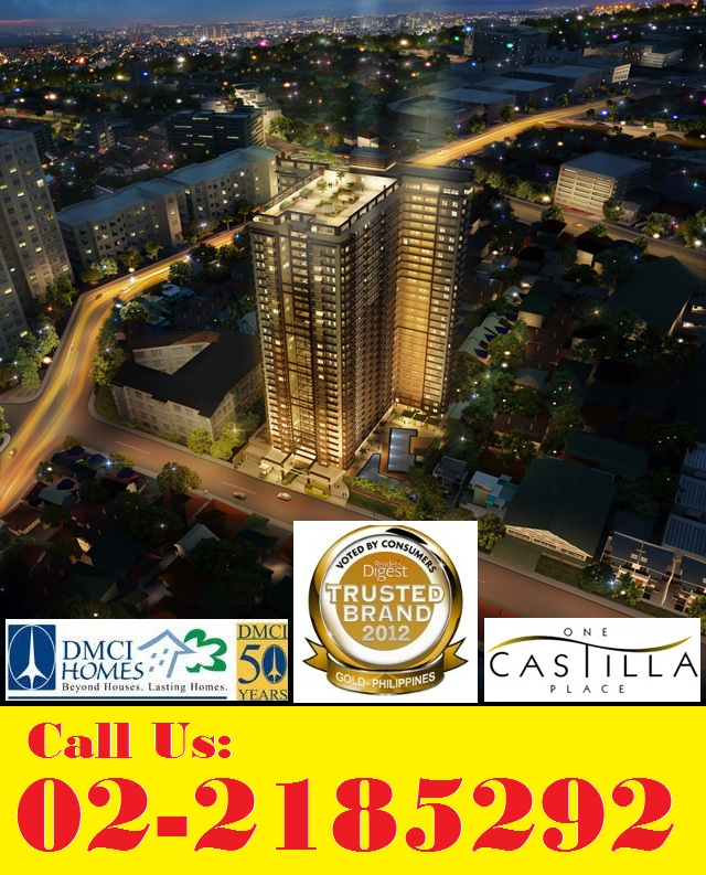 Condo in San Juan, Manila/One Castilla Place by DMCI Homes/Condo for Sale/as low as 13k/Mo Call Us+632.218.5292