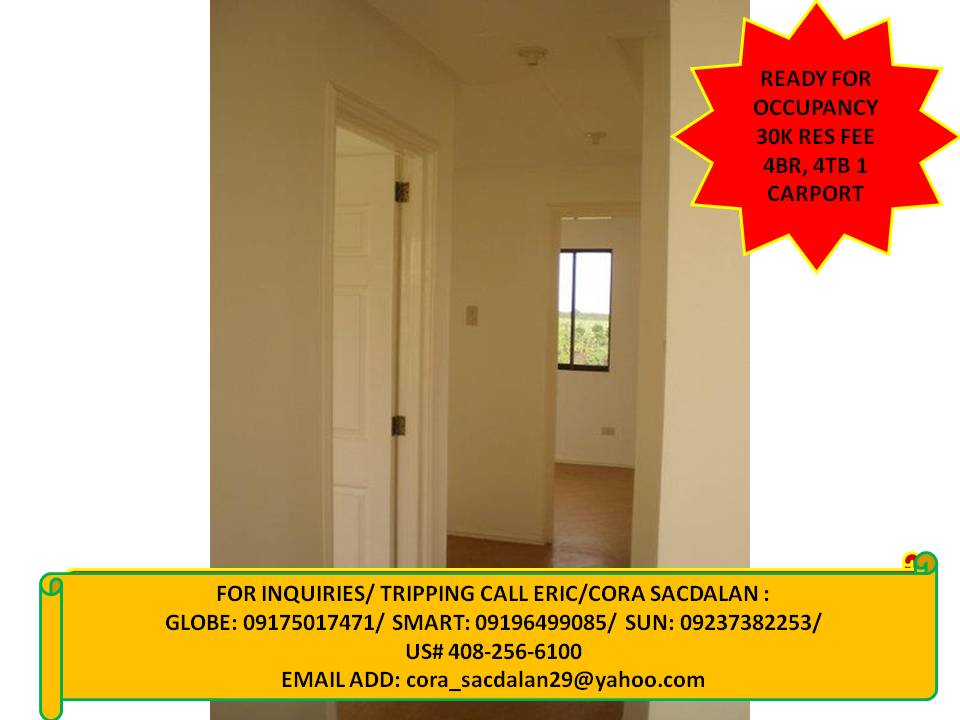 3 bedrooms, ready for occupancy, single detached