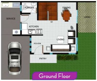 Almiya House and Lot Vera Floor Plan