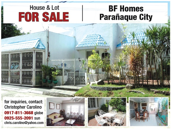 house and lot for sale bf homes paranaque