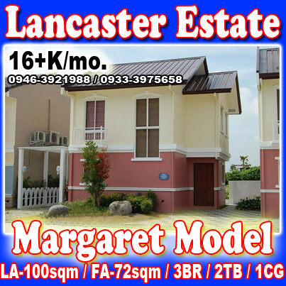margaret single attached at Lancaster New City imus cavite