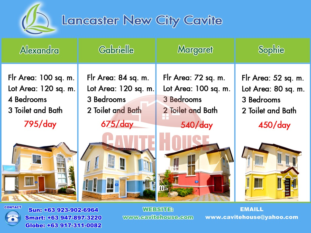 AVAIL OUR 50% OFF RESERVATION FEE UNTIL JUN 30, 2013. GABRIELLE HOUSE AND LOT 3BR, 2CR, WITH LINEAR PARK