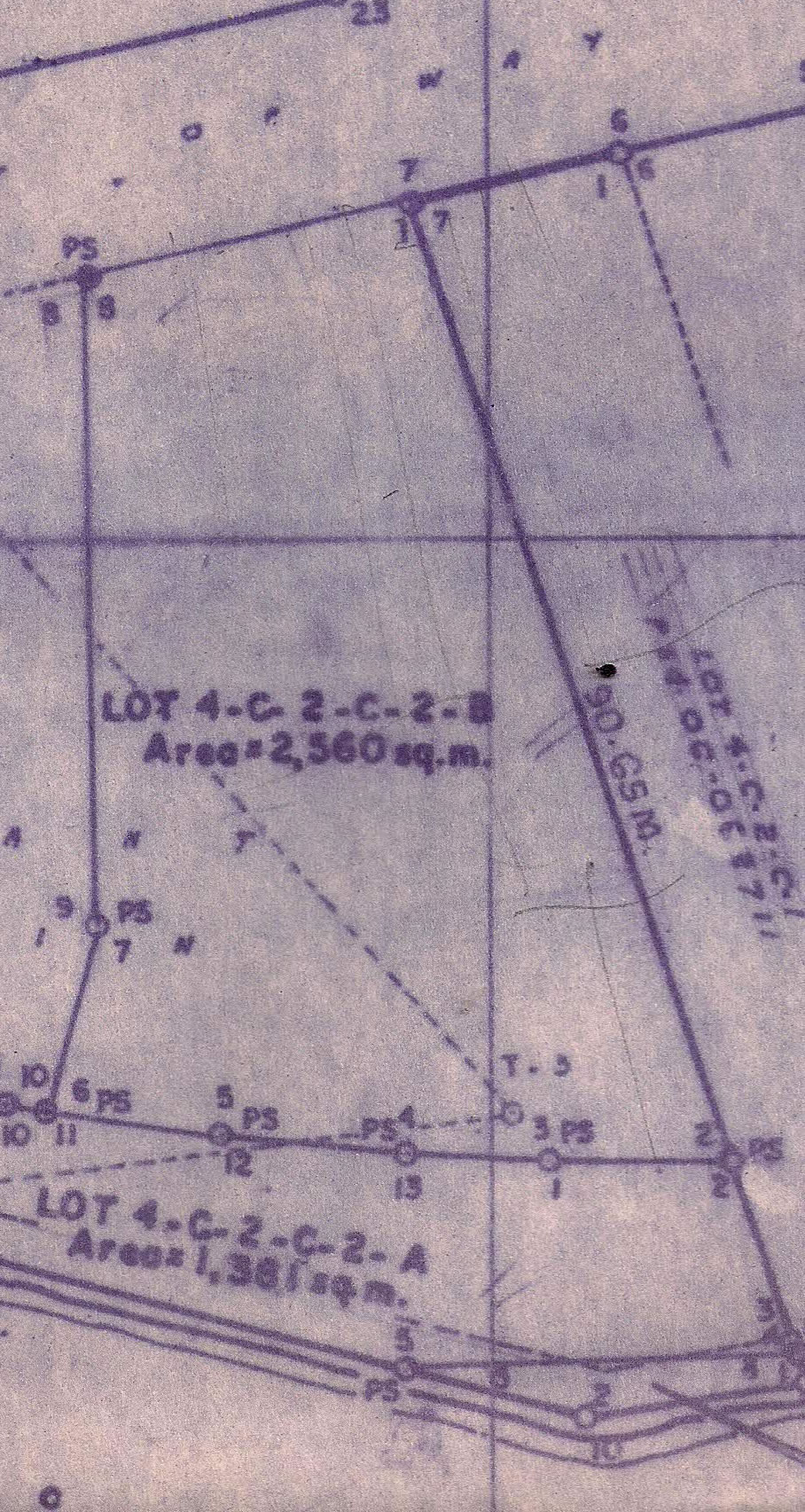 Property Lines for 2,560 sq. meter lot
