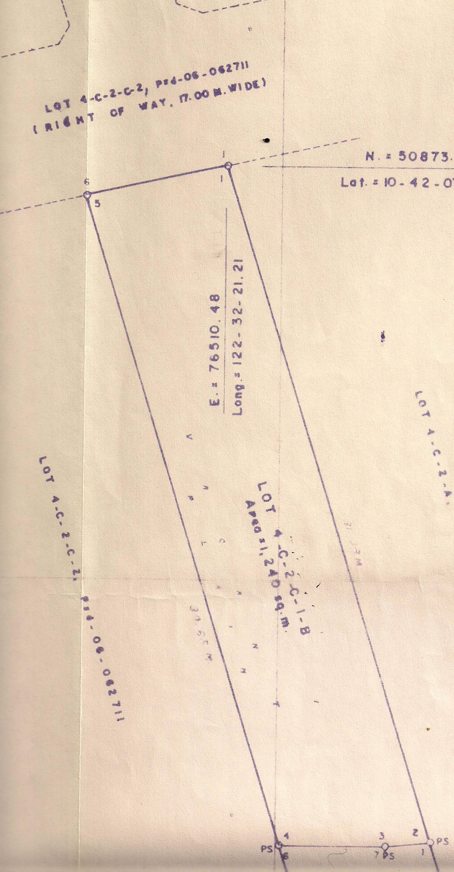 Property Lines for 1,240 sq. meter lot