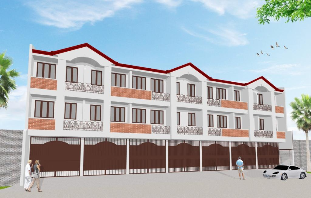 Zamora Townhomes Perspective