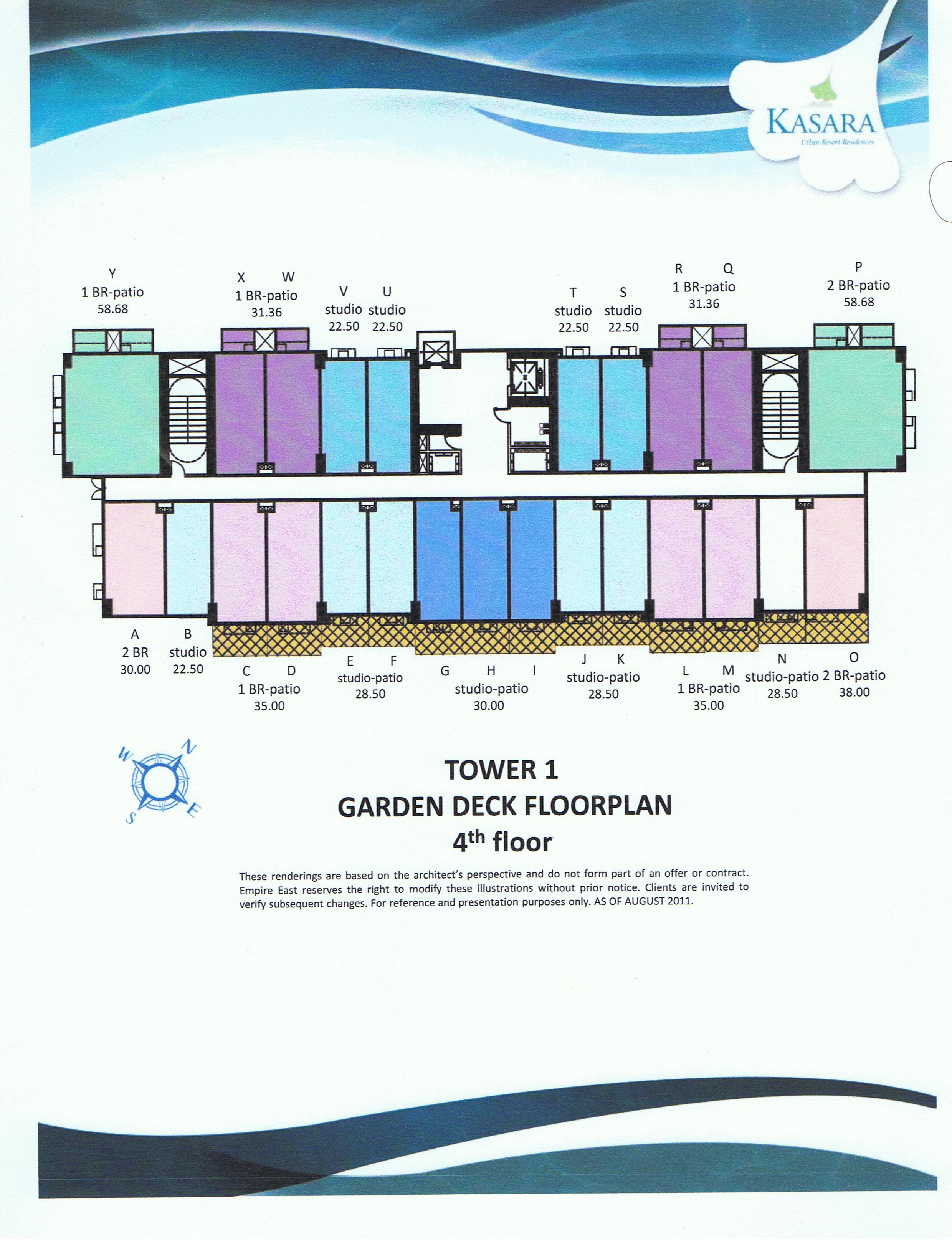 Floor Plan with Garden Deck - Tower 1