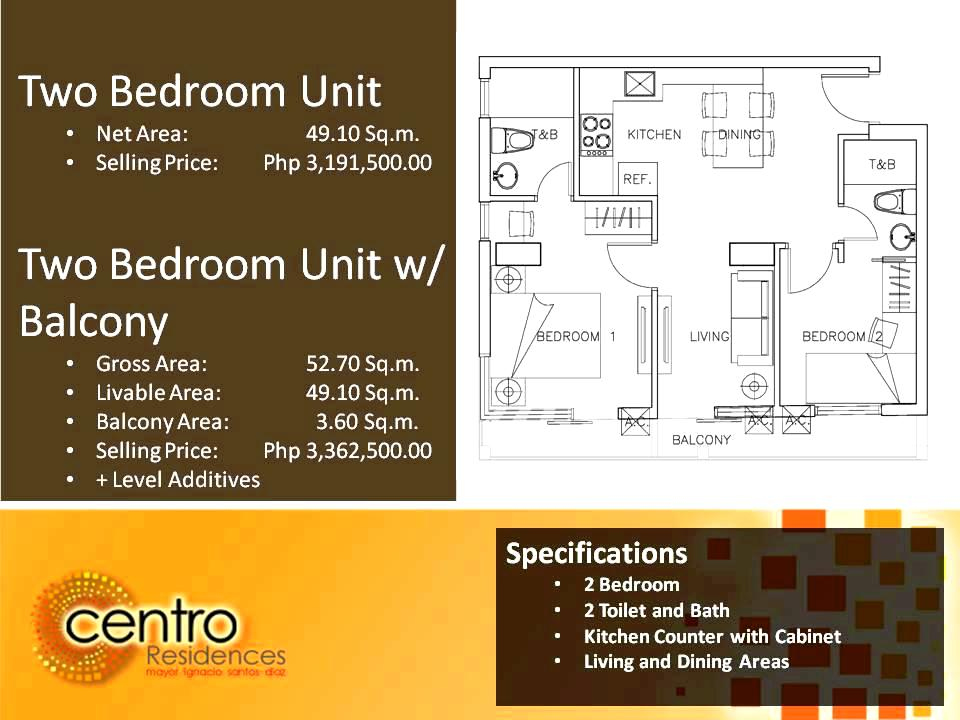 Two Bedroom Specs