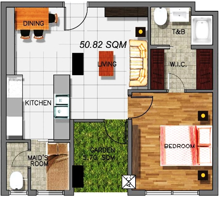 Garden Unit Floor Plan