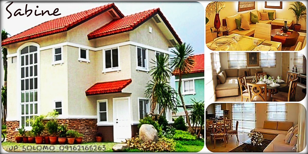 SABINE @ Bellefort Estates   Bacoor Cavite    LA: 110sqm  FA: 803sqm    House Features:  - 4 Bedrooms  - 2 Toilets and Baths  - Living Area  - Dining Area  - Kitchen Area  - Provision for 2Car Garage  - Laundry area