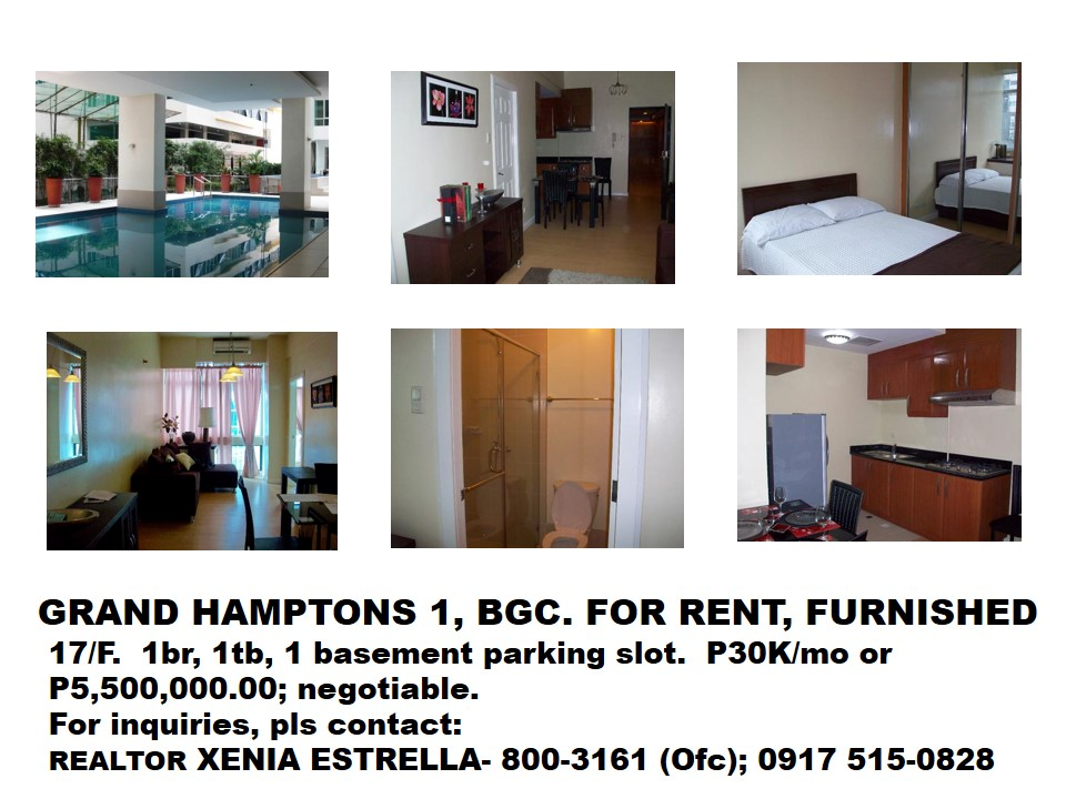 Furnished, with parking.  http://mariaxeniaestrella.point2agent.com