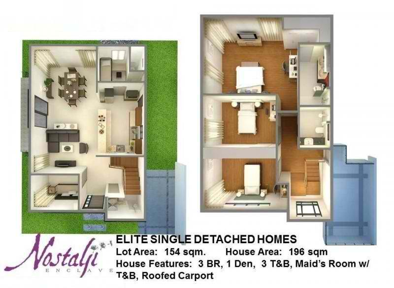 Nostalji Enclave Elite Single Detached Homes Floor Plan