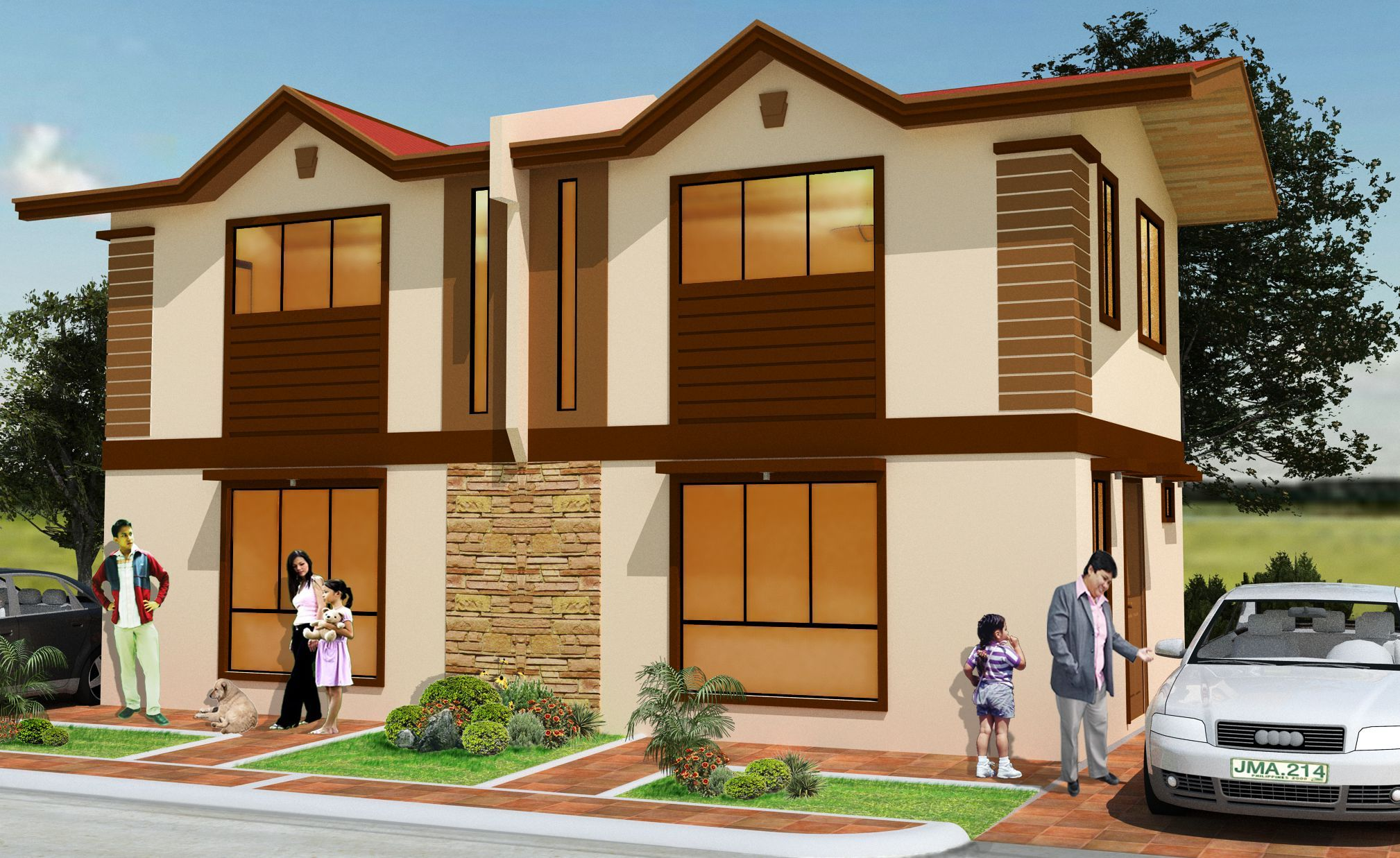 Chandra Duplex Minimum Lot Area 80sqm Floor Area 50-60sqm including carport and veranda