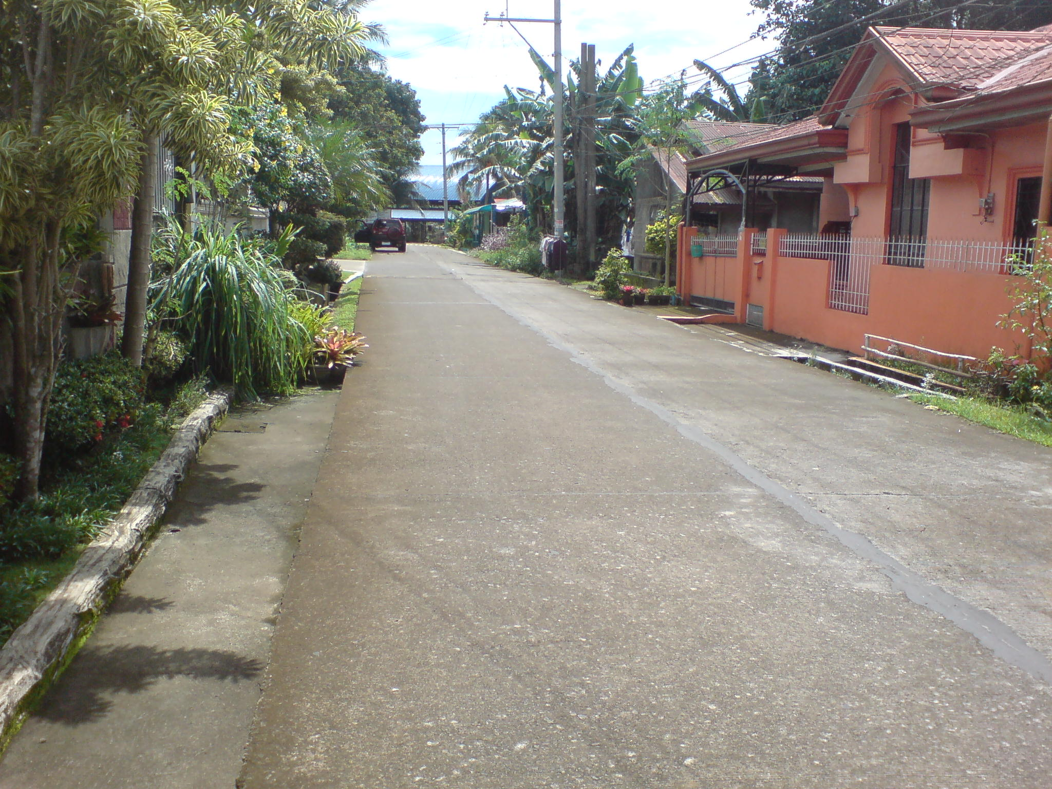 Catlina road leading to lot
