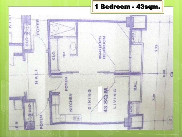 CGR floor plan of 1 br.