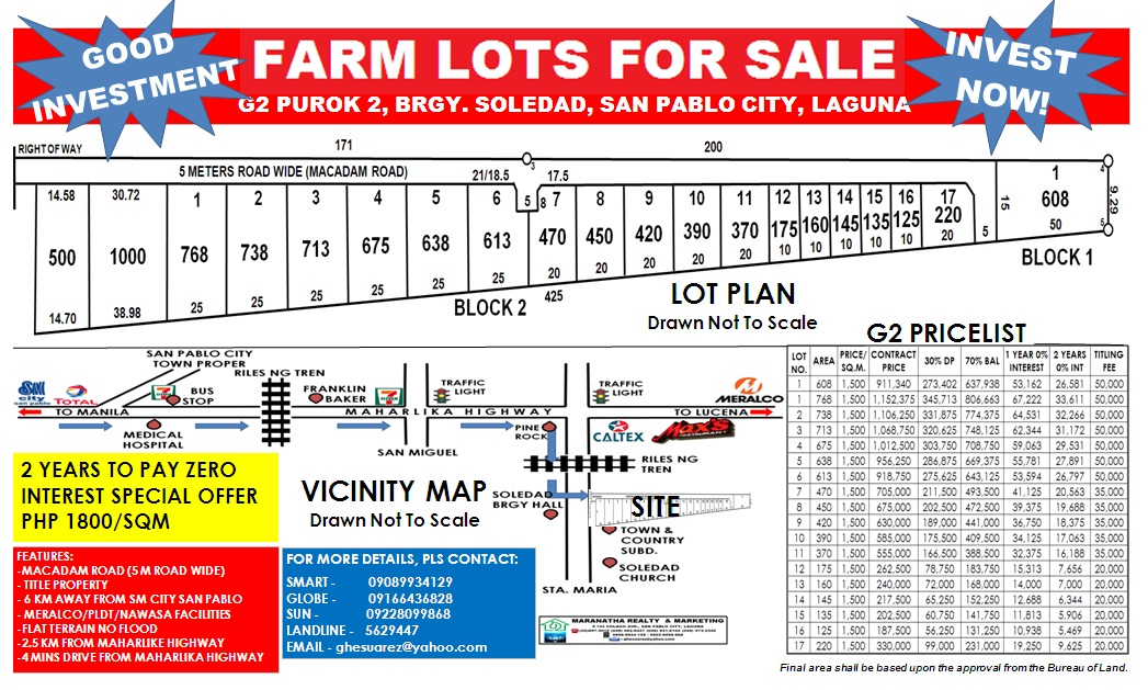 FOR SALE: Lot / Land / Farm Laguna > San Pablo City