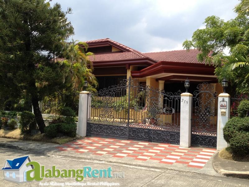 Fully Furnished 2-story House for Rent inside Ayala Alabang Village.
