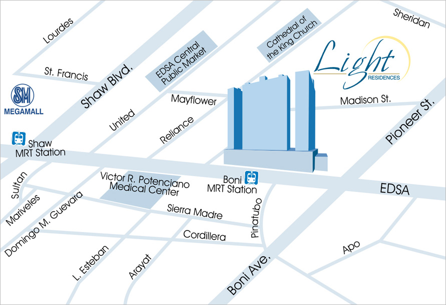 Light Location Map