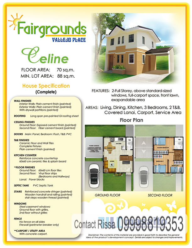 Celine Model House Specifications Fairgrounds Molino Bacoor Cavite