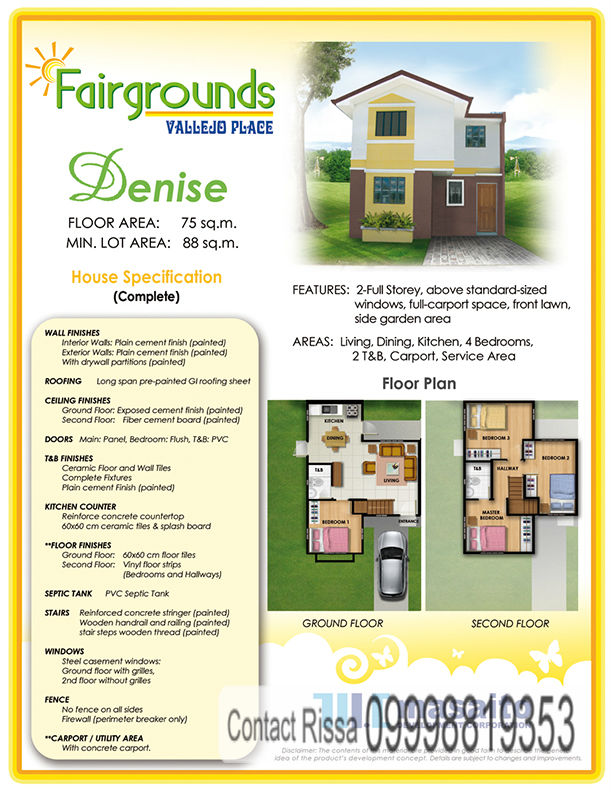 Denise Model House Specifications