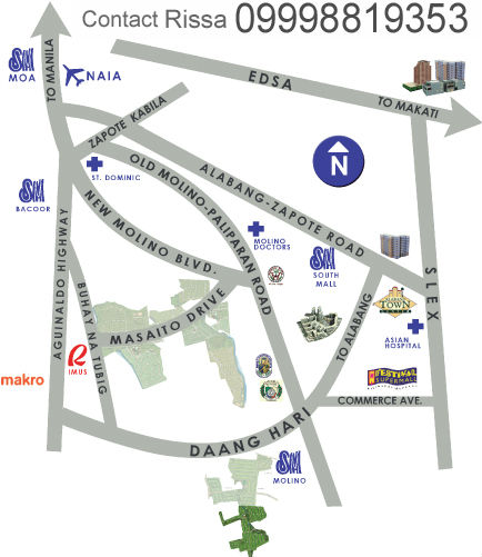 Fairgrounds Molino Bacoor Cavite Vicinity Map