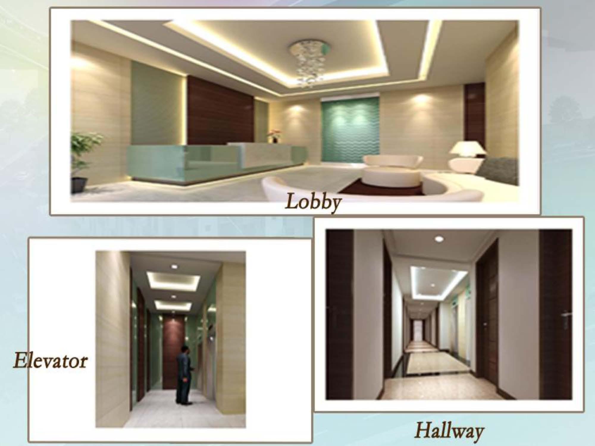 Elevator, Lobby, Hallway