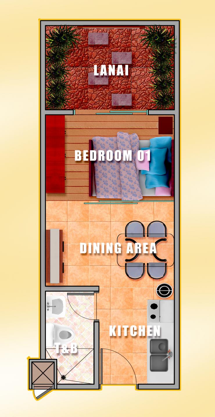 1 BR layout