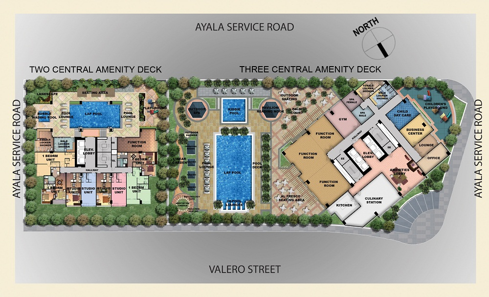 Three Central Amenities