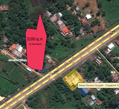 2 hectare lot for sale in Dumoy, Bago, Davao City