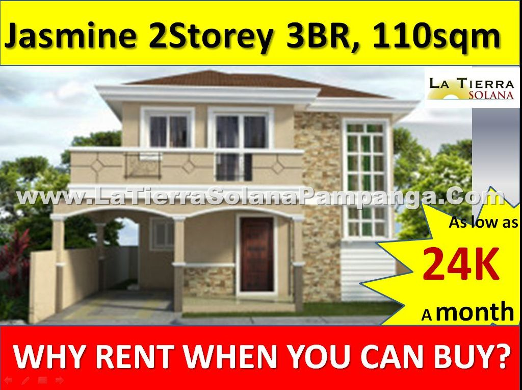 House and Lot for sale Pampanga, Jasmine Model House, 2 storey Single Detached Home, 3 Bedroom, 150sqm