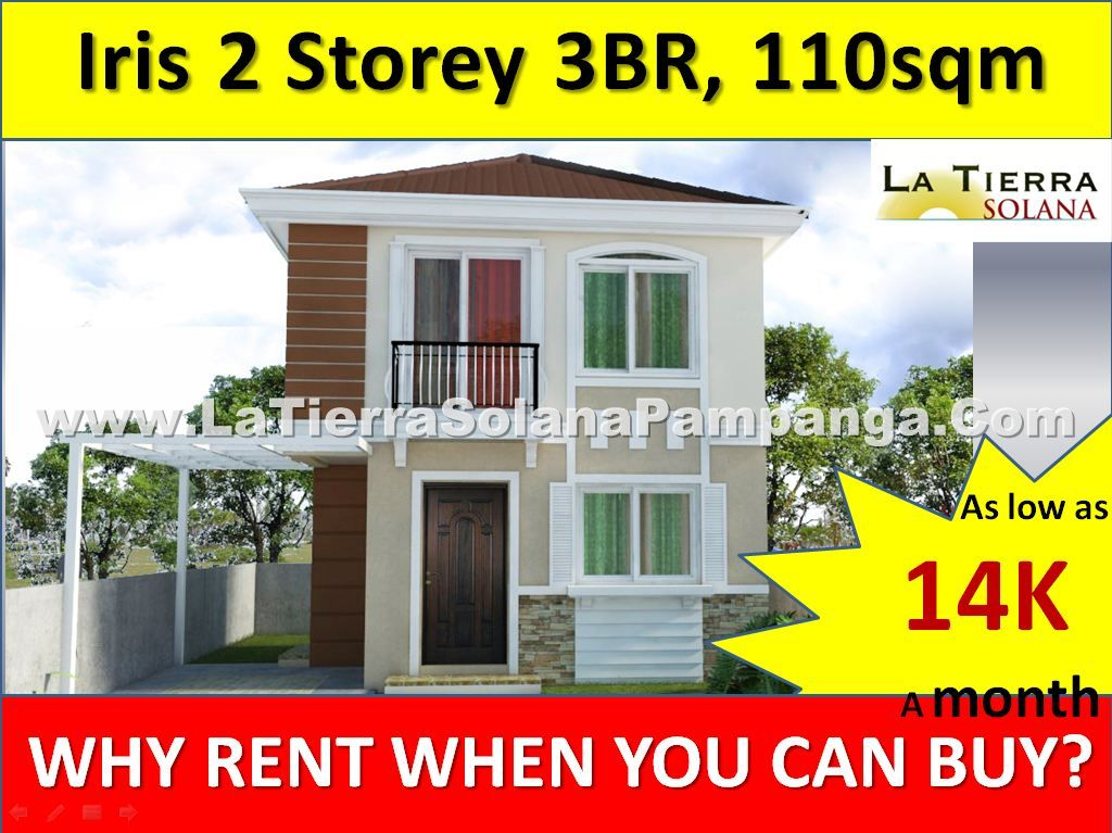 Quality Affordable House and Lot for Sale Pampanga, La Tierra Solana, Iris Single Detached Home, 110sqm