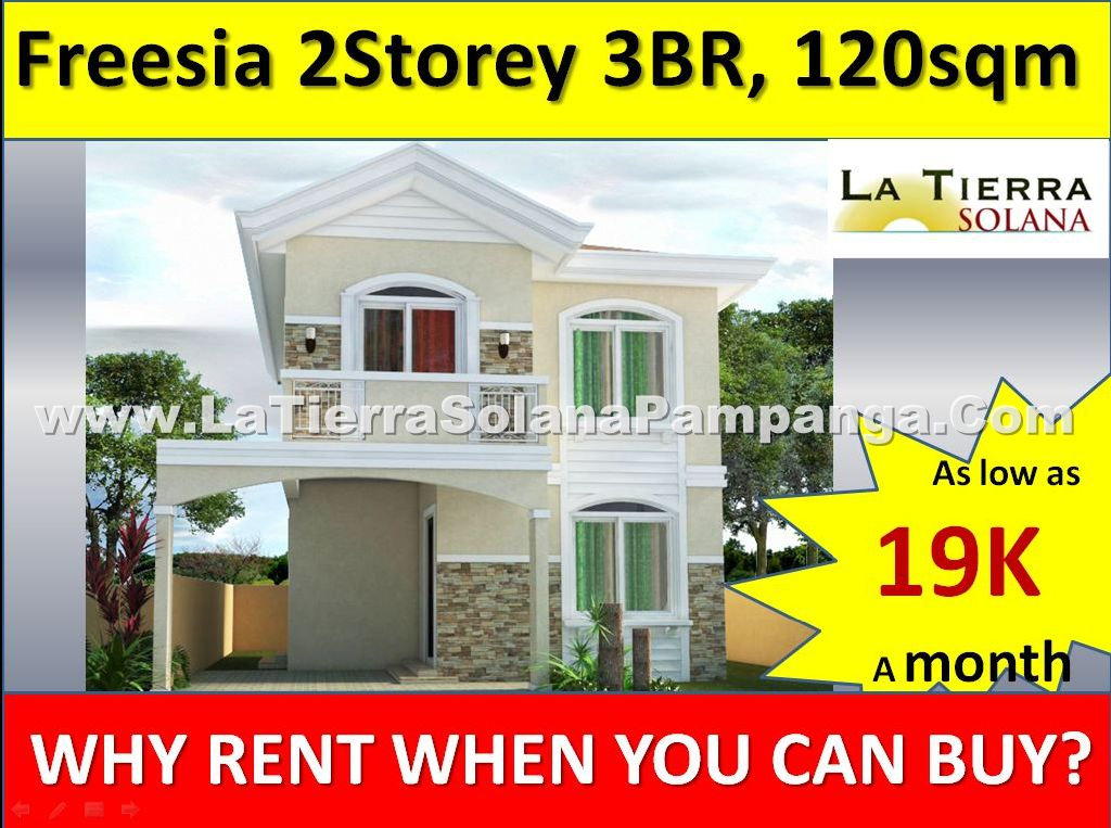 Quality Affordable House and Lot for Sale Pampanga, La Tierra Solana, Freesia, 3 Bedroom, 120sqm