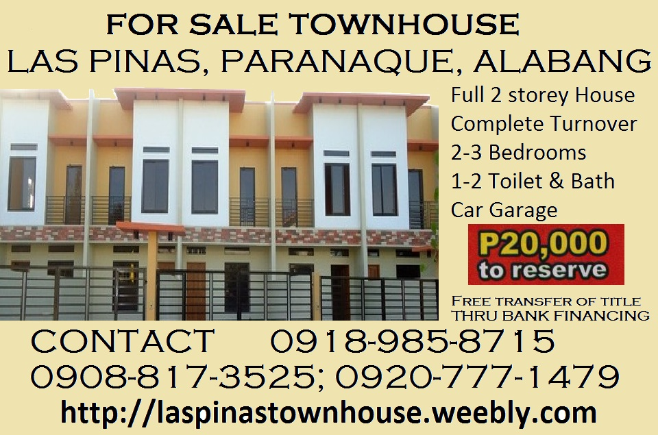 affordable pre-selling townhouse in sucat paranaque