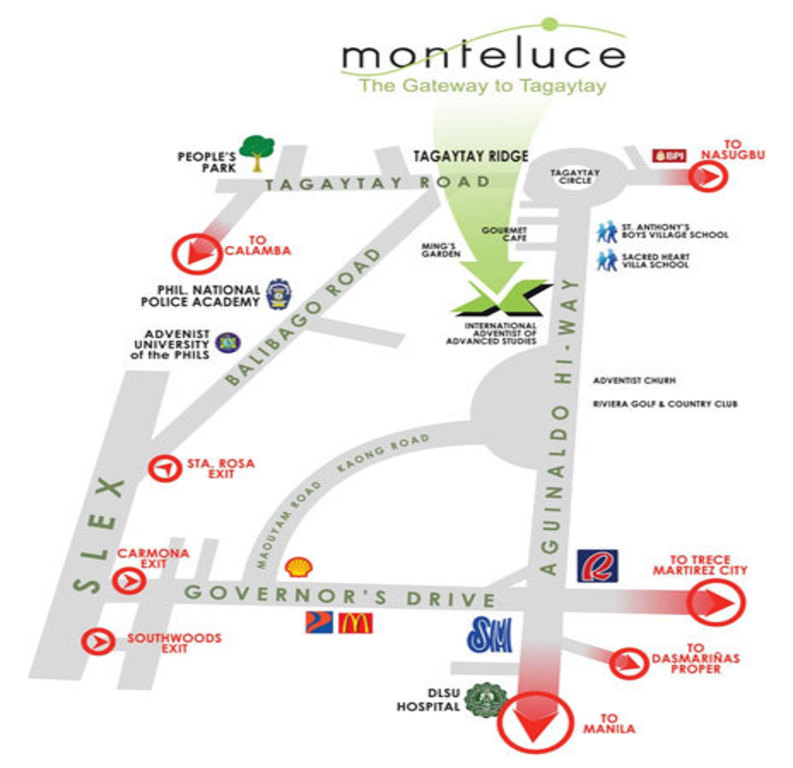 Monteluce location map