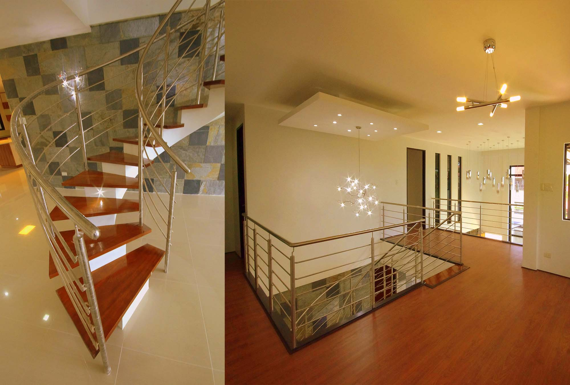 Staircase Steel Railing; Second Floor Family Area