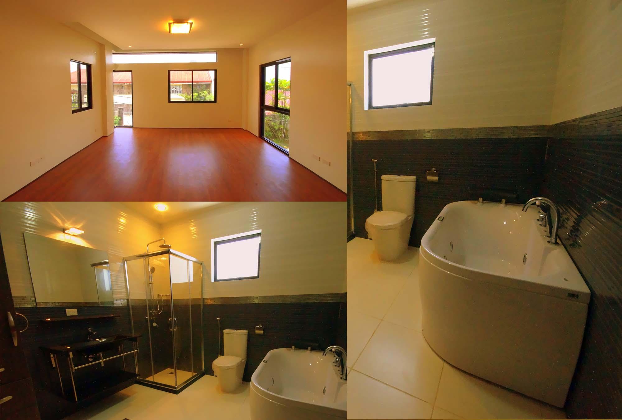 Master's w/ Balcony; Bath w/ Jacuzzi