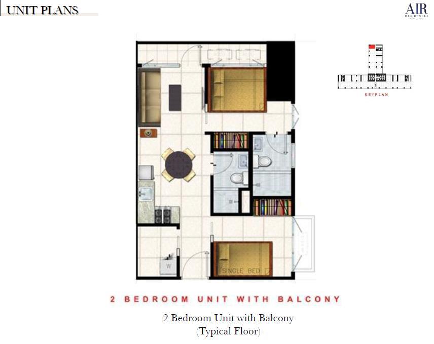1 bedroom balcony