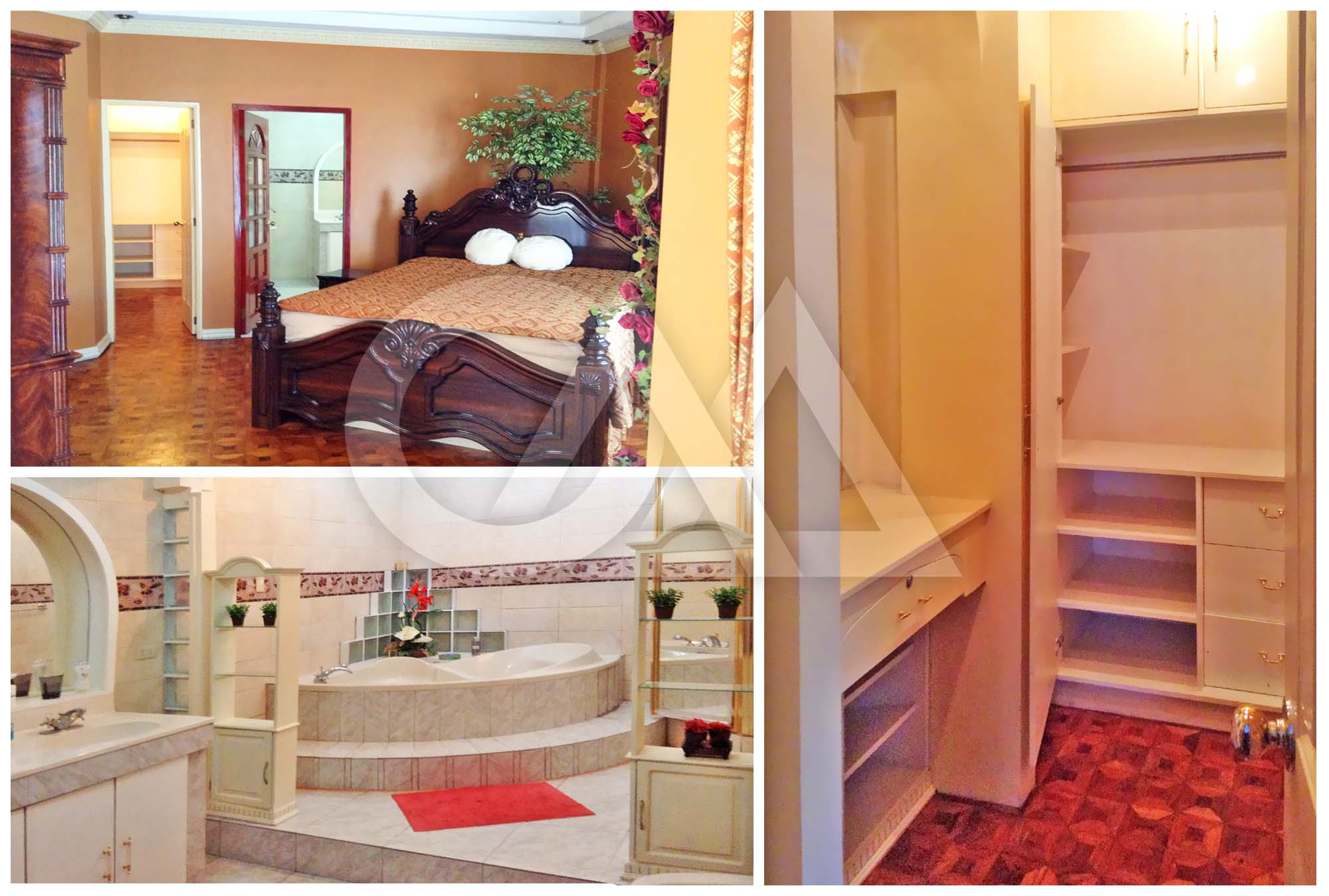 Master's; Bath Enclosure, Bathtub, Walk-In Closet, Balcony