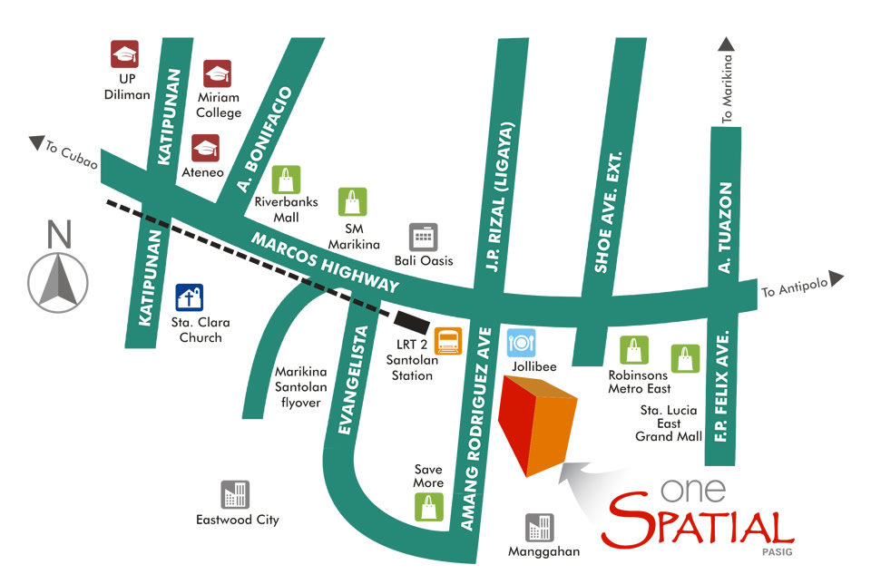 One Spatial Pasig Location Map